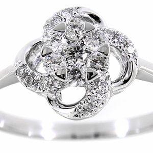 Diamond 14K White Gold Fine Ring Jewelry